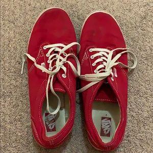 Vans in red, women's 9.5